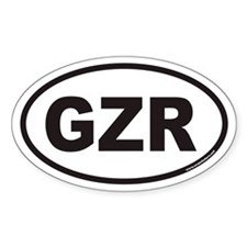 GZR Ticker Symbol Oval Decal