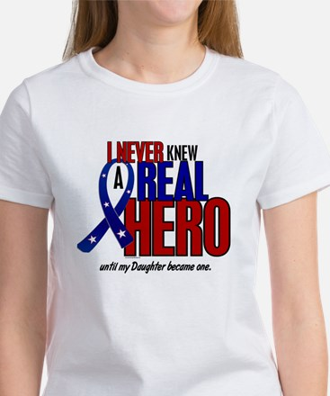 Never Knew A Hero 2 Military (Daughter) Women's T-