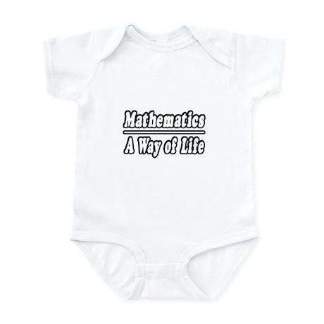 """Mathematics: A Way of Life"" Infant Bodysuit"