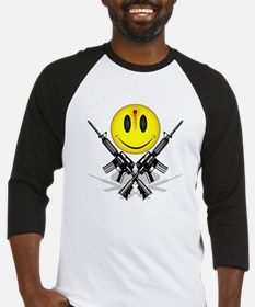 Bloody Happy Face Baseball Jersey