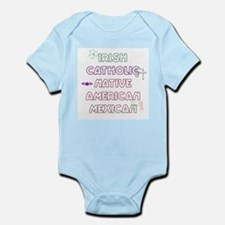 Example Personalized Nationality Infant Creeper