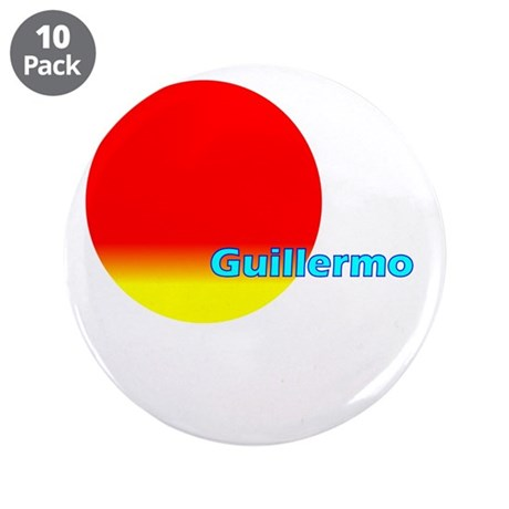 """Guillermo 3.5"""" Button (10 pack)"""