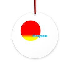 Greyson Ornament (Round)