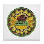 Kansas Game Warden Tile Coaster
