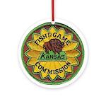 Kansas Game Warden Ornament (Round)