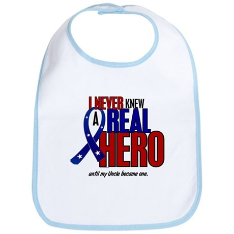 Never Knew A Hero 2 Military (Uncle) Bib
