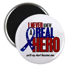 "Never Knew A Hero 2 Military (Aunt) 2.25"" Magnet ("