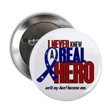 """Never Knew A Hero 2 Military (Aunt) 2.25"""" Button ("""