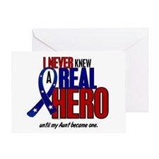 Never Knew A Hero 2 Military (Aunt) Greeting Card
