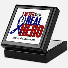 Never Knew A Hero 2 Military (Aunt) Keepsake Box