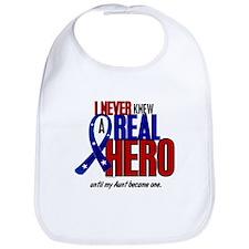 Never Knew A Hero 2 Military (Aunt) Bib