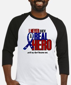 Never Knew A Hero 2 Military (Aunt) Baseball Jerse