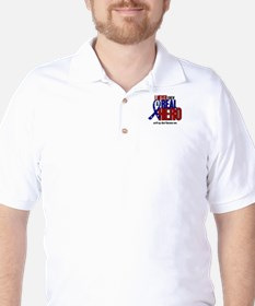 Never Knew A Hero 2 Military (Aunt) Golf Shirt