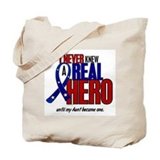 Never Knew A Hero 2 Military (Aunt) Tote Bag