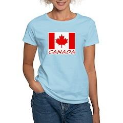Canadian Flag Women's Pink T-Shirt