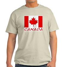 Canadian Flag Ash Grey T-Shirt