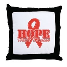 Hope - Heart Disease Throw Pillow
