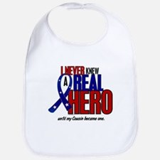Never Knew A Hero 2 Military (Cousin) Bib