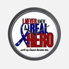 Never Knew A Hero 2 Military (Cousin) Wall Clock