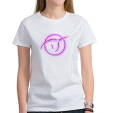 IPU (Atheism Symbol) - Inverted Pink Glass T-Shirt