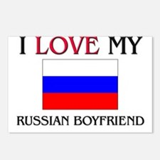 I Love My Russian Boyfriend Postcards (Package of