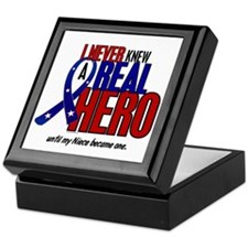 Never Knew A Hero 2 Military (Niece) Keepsake Box
