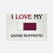 I Love My Qatari Boyfriend Rectangle Magnet