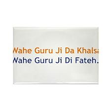 Wahe Guru Rectangle Magnet
