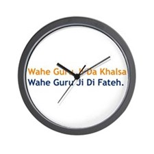 Wahe Guru Wall Clock