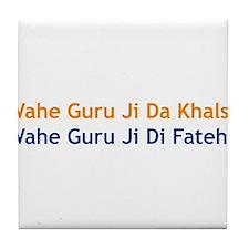 Wahe Guru Tile Coaster