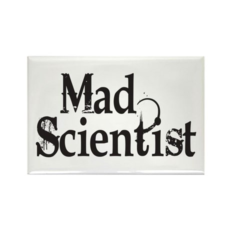 Mad Scientist Rectangle Magnet (10 pack)