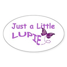 A Little Lupie Oval Decal