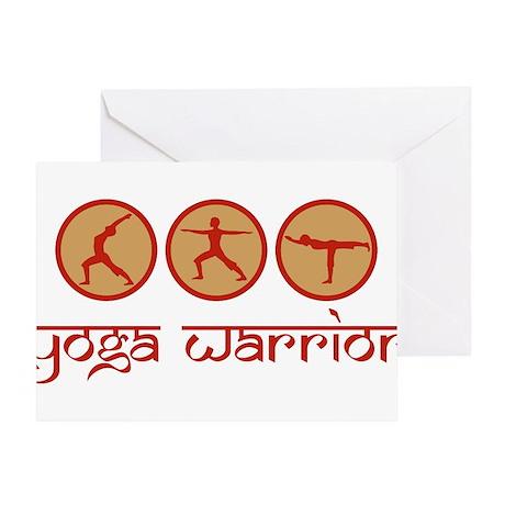 Yoga Warrior Greeting Card