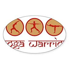 Yoga Warrior Oval Decal