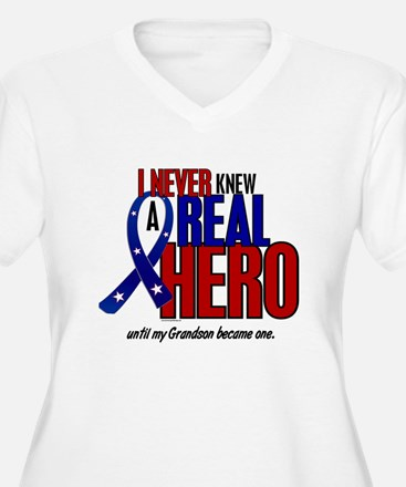 Never Knew A Hero 2 Military (Grandson) T-Shirt