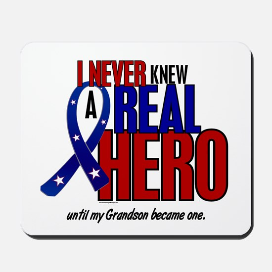 Never Knew A Hero 2 Military (Grandson) Mousepad