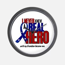 Never Knew A Hero 2 Military (Grandson) Wall Clock