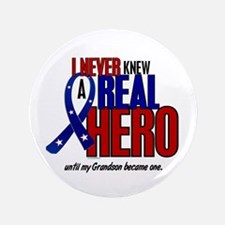 """Never Knew A Hero 2 Military (Grandson) 3.5"""" Butto"""