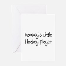 Mommy's Little Hockey Player Greeting Cards (Pk of
