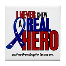 Never Knew A Hero 2 Military (Granddaughter) Tile