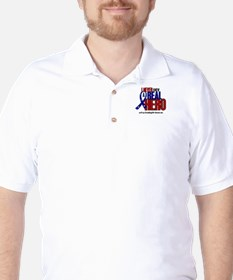 Never Knew A Hero 2 Military (Granddaughter) T-Shirt