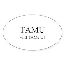 TAMU1 Oval Decal