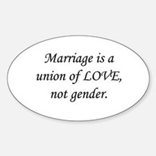 Union of Love Oval Decal