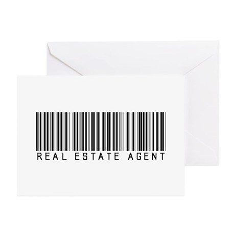 Real Estate Agent Barcode Greeting Cards (Pk of 20