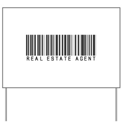Real Estate Agent Barcode Yard Sign