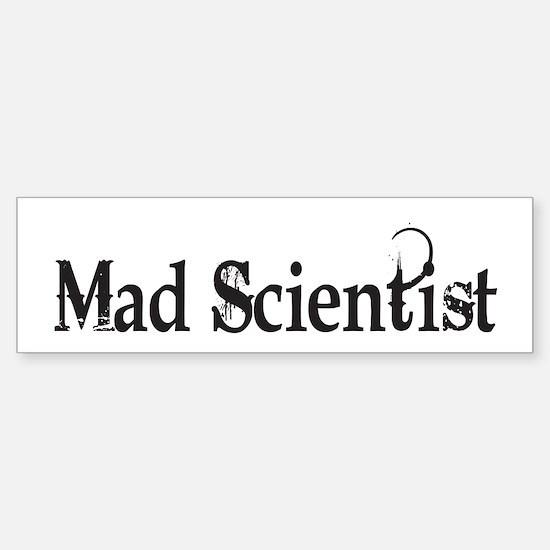 Mad Scientist Bumper Car Car Sticker