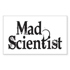 Mad Scientist Rectangle Decal