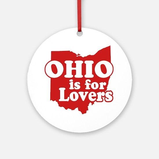 Ohio is for Lovers Keepsake (Round)