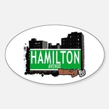 HAMILTON AVENUE, BROOKLYN, NYC Oval Decal