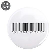 "Real Estate Appraiser Barcode 3.5"" Button (10 pack"